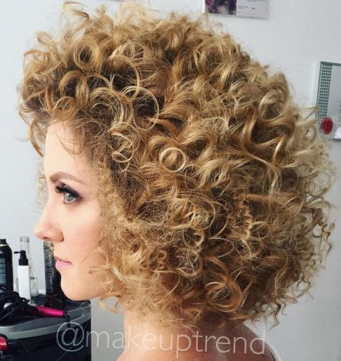 Curly Blonde Hairstyle