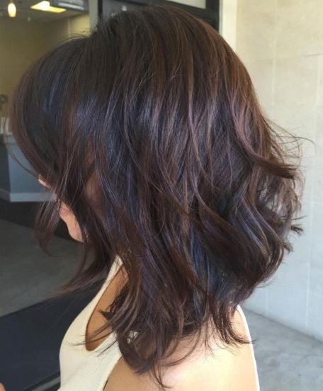 Black Layered Hair With Chocolate Balayage