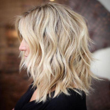 Shoulder-Length Shaggy Hairstyle