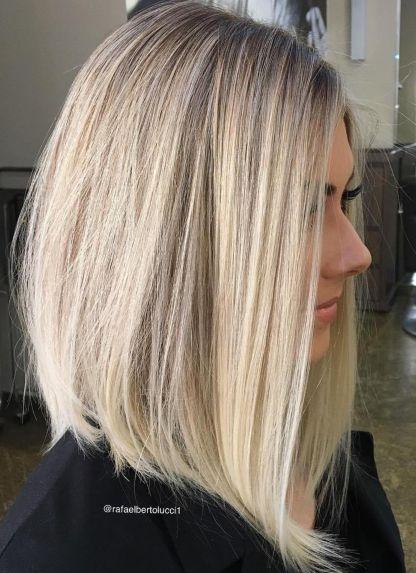 Platinum Blonde Lob