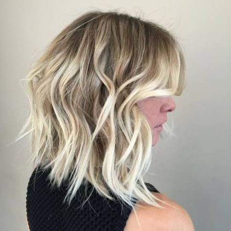 Shaggy Wavy Blonde Bob