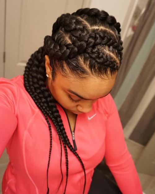 70 best black braided hairstyles that turn heads in 2017 long curvy goddess braids pmusecretfo Images