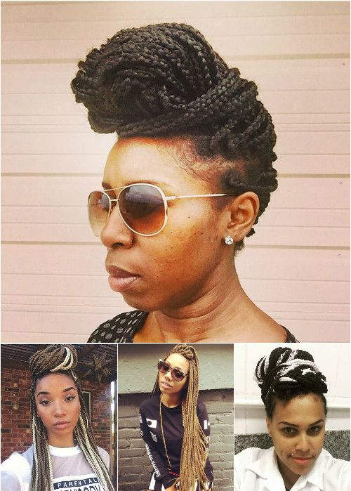 box braids updos and downdos