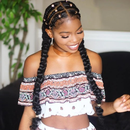 Braids To Bun Protective Hairstyle