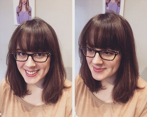 medium haircut with bangs