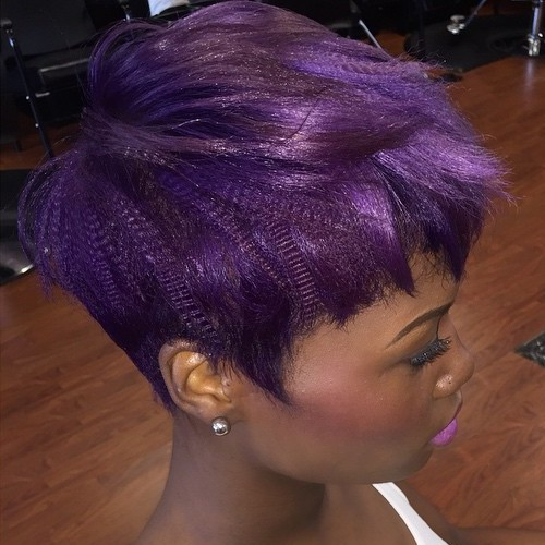 African American Purple Pixie