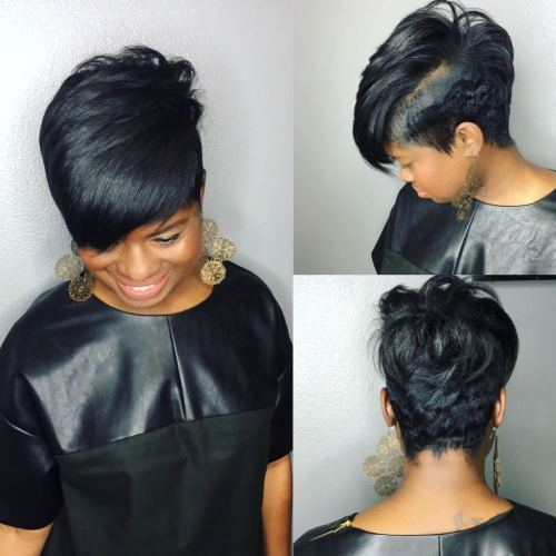 Tapered Combover Pixie