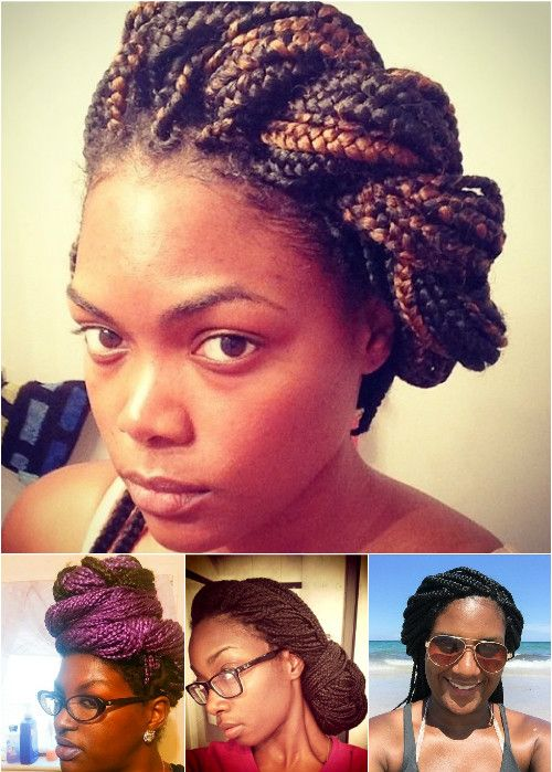 twisted updos for box braids