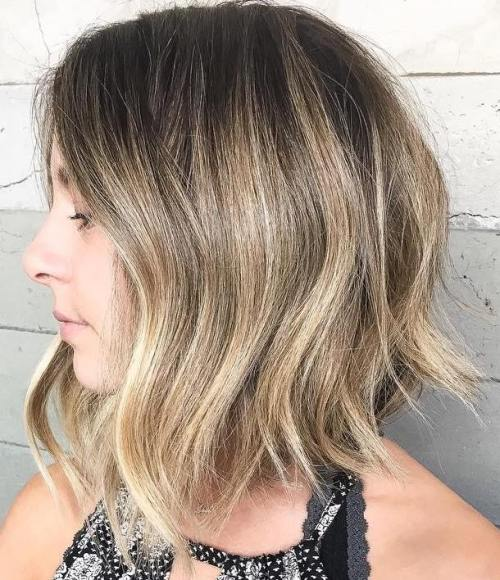Long Blonde Balayage Bob