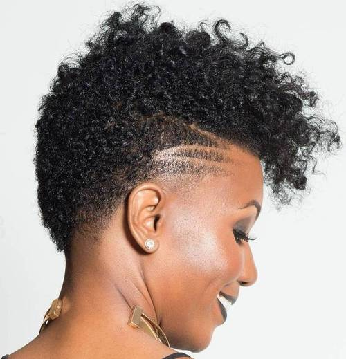 Black Girl Short Hairstyles stylist feature loving this edgy pixiecut done by atlantastylist hairexclusive hairdos for short hairgirl short hairhairstyles black Short Natural Fauxhak For Women