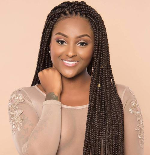 Long Brown Box Braids