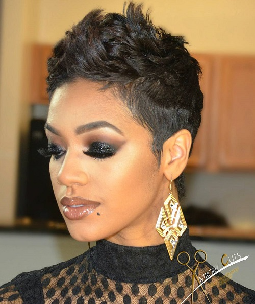 Peachy 60 Great Short Hairstyles For Black Women Hairstyles For Men Maxibearus