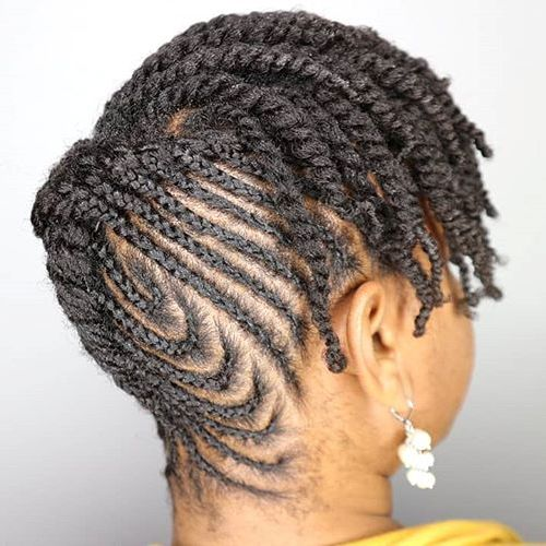 Protective Updo Style For Short Natural Hair