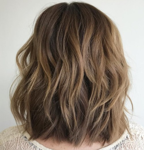 80 sensational medium length haircuts for thick hair in 2018 layered lob for thick hair winobraniefo Choice Image