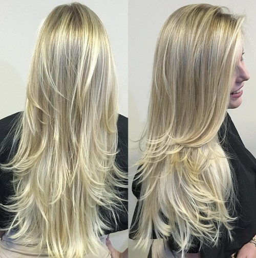80 cute layered hairstyles and cuts for long hair in 2017 long layered blonde hairstyle urmus Image collections