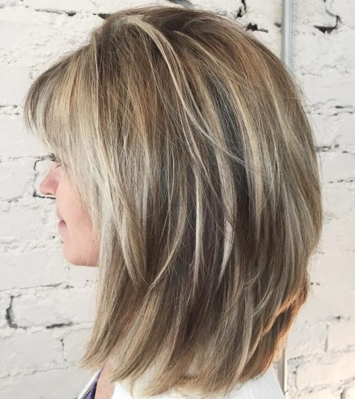 v shaped haircut with layers and bangs 50 best variations of a medium shag haircut for your 2952