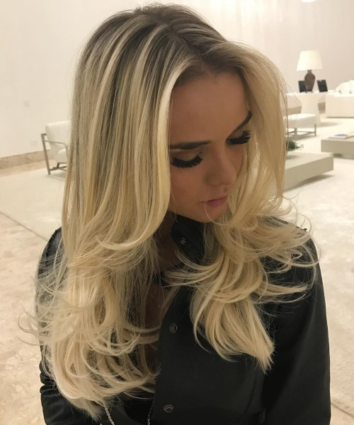 Long Layered Blonde Hair