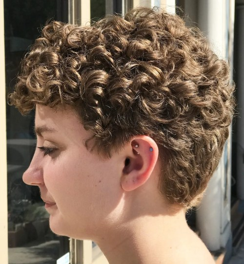 Short Tapered Cut For Curly Hair