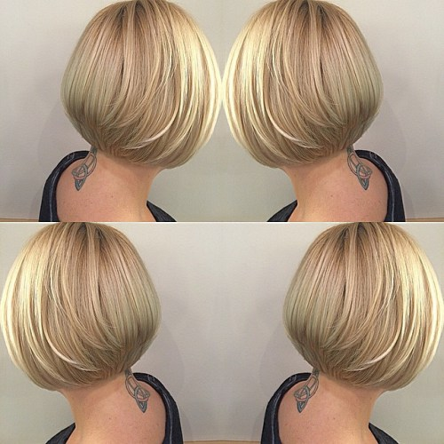 Stacked Bob Haircut For Fine Hair
