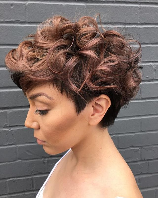 Womenu0027S Tapered Curly Haircut 50 Most Delightful