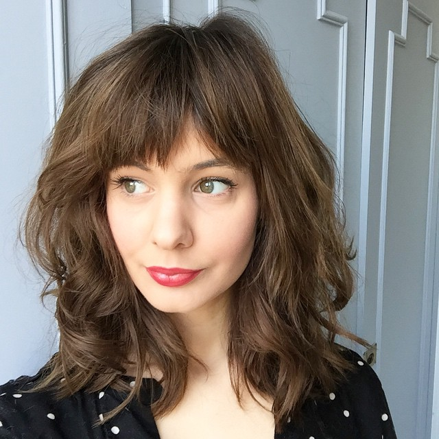 layered haircuts with bangs 70 brightest medium length layered haircuts and hairstyles 9685