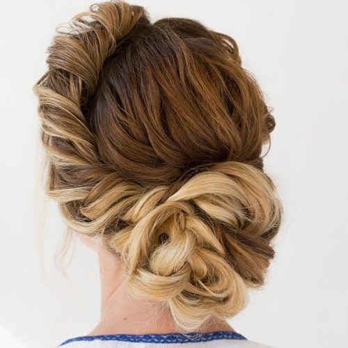 Messy Asymmetrical Updo