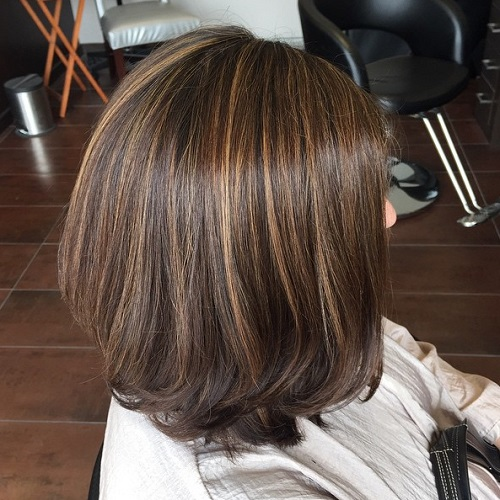 Brown Bob With Highlights