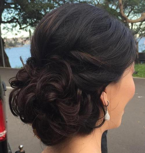 40 most delightful prom updos for long hair in 2017 curly bun prom updo pmusecretfo Choice Image