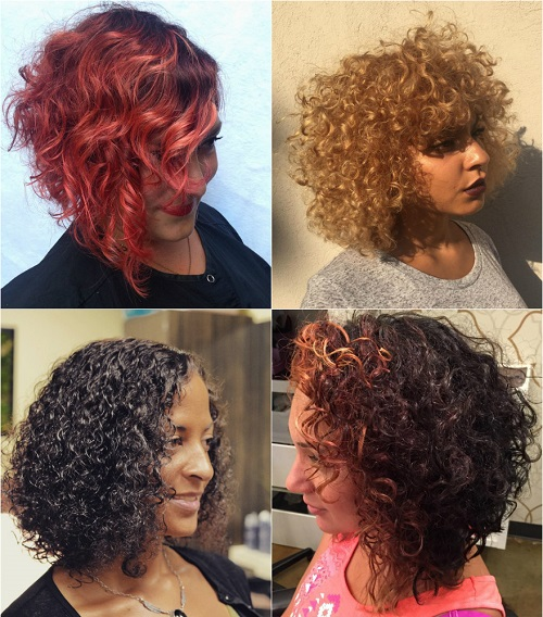 medium thick curly hairstyles