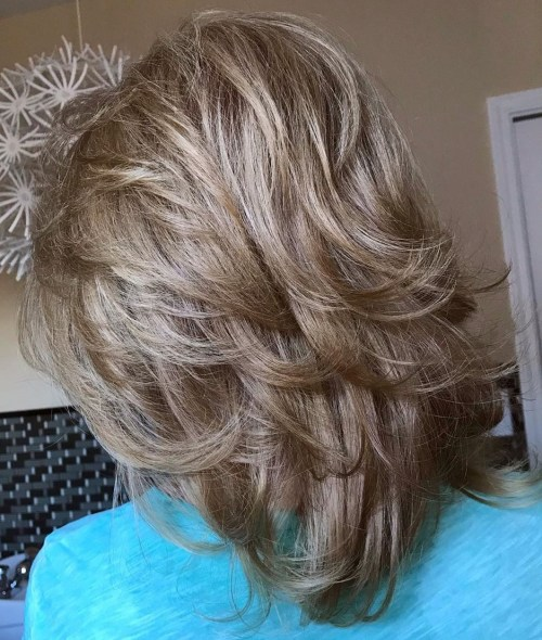 Ash Blonde Shoulder-Length Shag