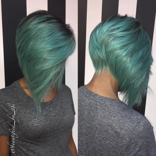 Inverted Teal Bob