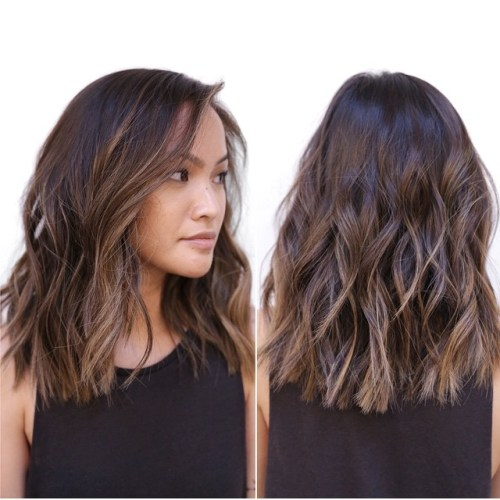 Medium Choppy Wavy Hairstyle