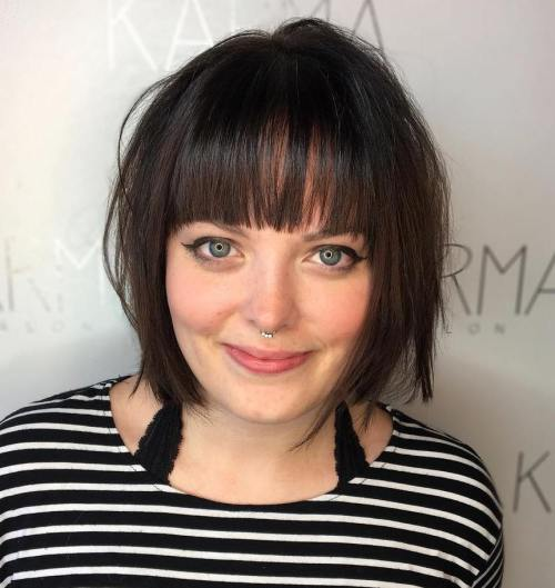 Chin-Length Bob With A Fringe