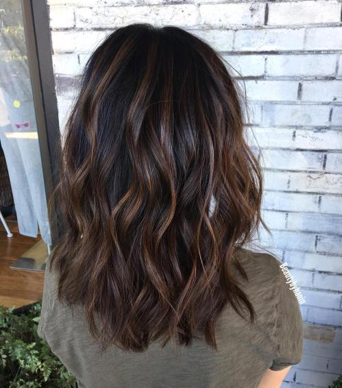 Medium-Length Wavy Haircut With Choppy Layers