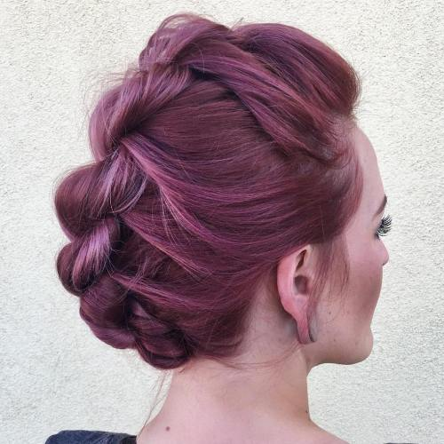 twisted mohawk updo