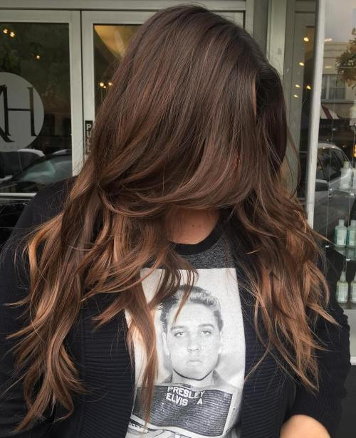 Long Layered Chocolate Hair