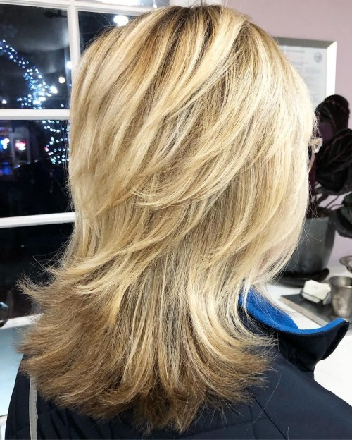 Medium Wispy Blonde Shag