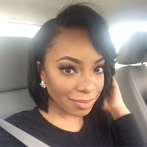 cute bob haircut for black women