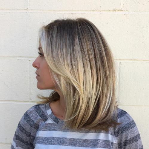 Blonde Textured Cut For Medium Length Hair