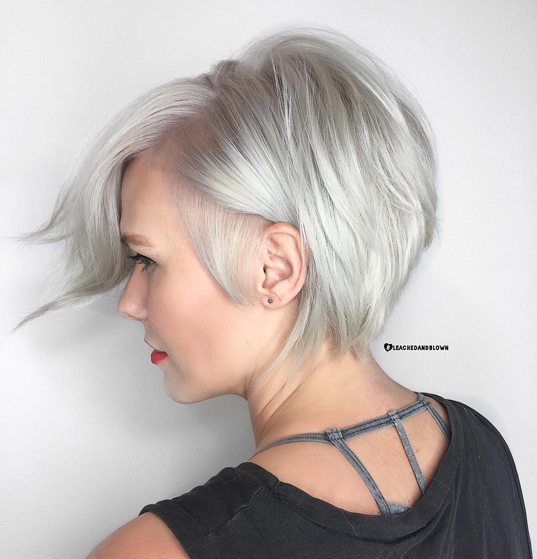 short hairstyles for thin fine gray hair