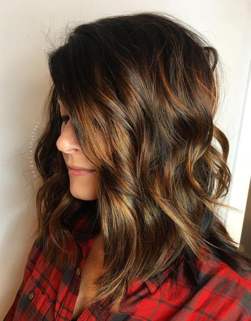 Brown Bob With Caramel Babylights