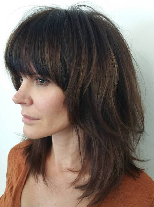 medium length shag hairstyles with bangs 50 best variations of a medium shag haircut for your