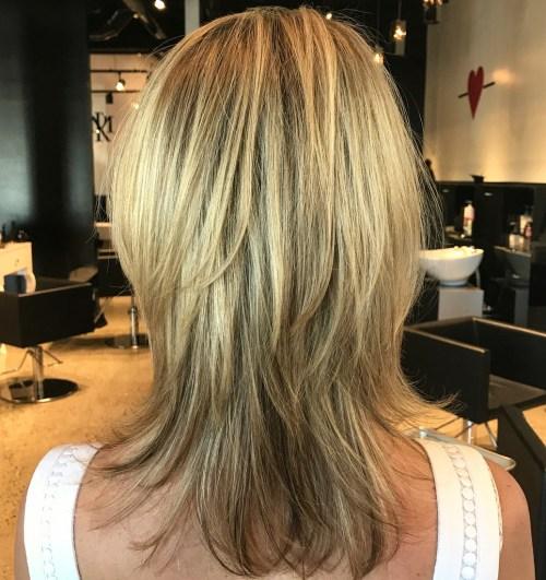 Medium Straight Layered Hairstyle