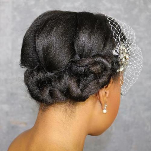 Short Hairstyle Updos For Wedding: 50 Superb Black Wedding Hairstyles
