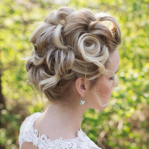 Pin Curls Updo For Shorter Hair
