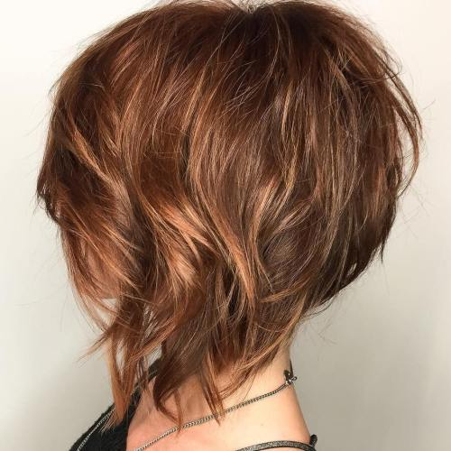 100 mind blowing short hairstyles for fine hair wispy layered angled bob with highlights urmus Gallery