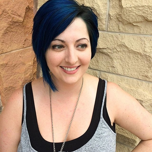 Top 40 catchy asymmetrical haircuts and hairstyles black asymmetrical haircut with blue balayage urmus Choice Image