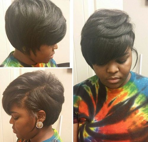 Pleasant 60 Showiest Bob Haircuts For Black Women Hairstyles For Men Maxibearus