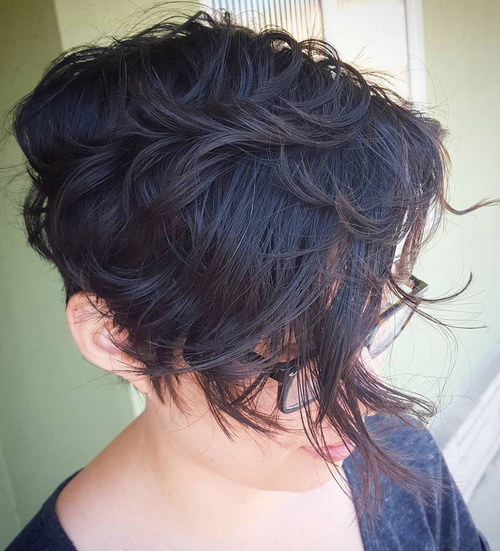 50 most delightful short wavy hairstyles short asymmetrical haircut for wavy hair urmus Image collections