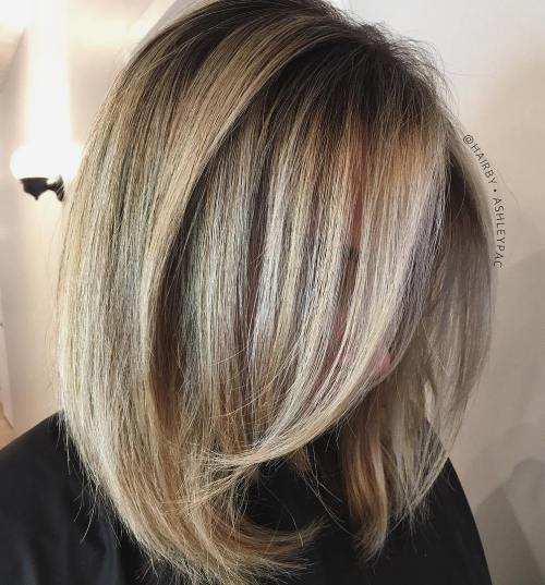 Blowout Hairstyle For Long Bob
